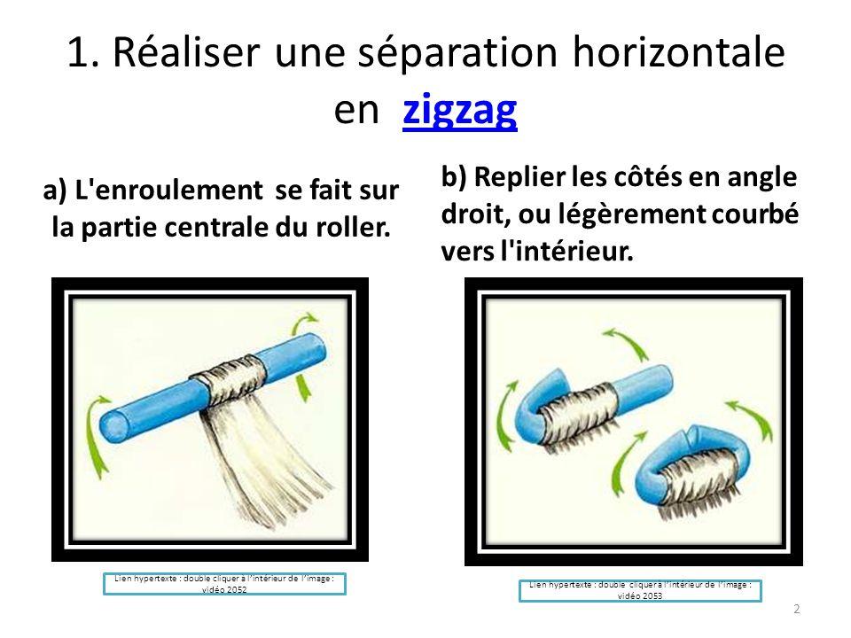 1. Réaliser une séparation horizontale en zigzag