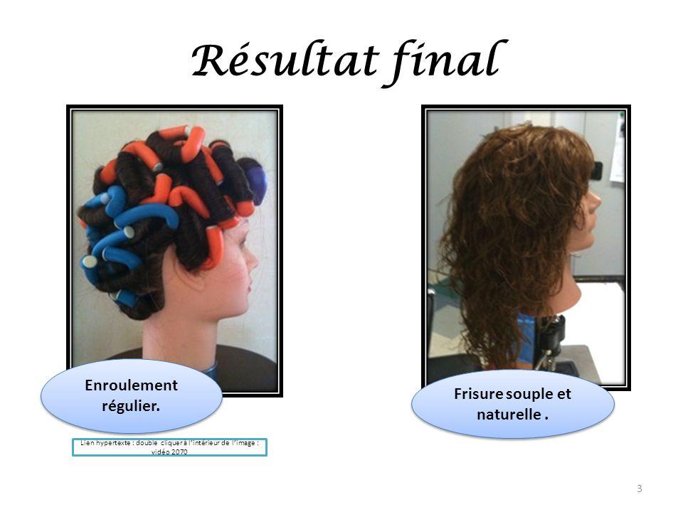 Frisure souple et naturelle .
