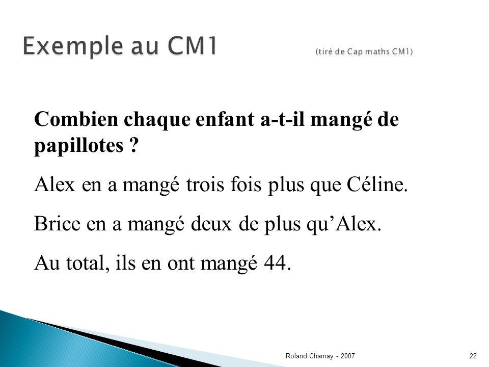 Exemple au CM1 (tiré de Cap maths CM1)