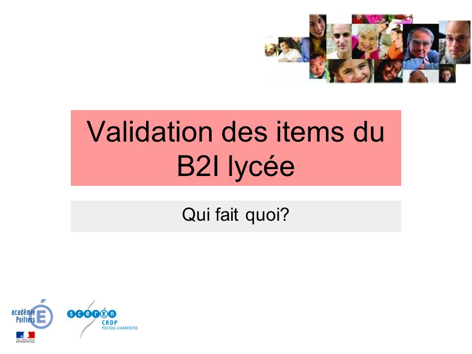 Validation des items du B2I lycée
