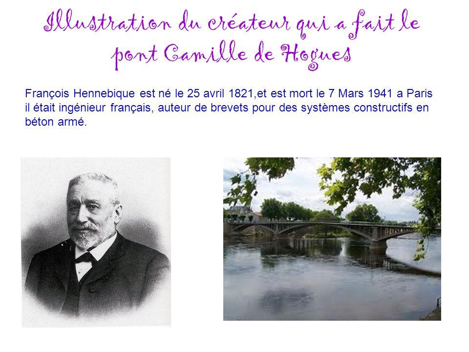 Illustration du créateur qui a fait le pont Camille de Hogues