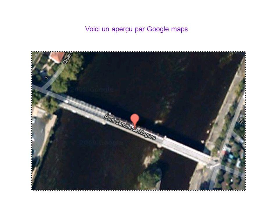 Voici un aperçu par Google maps