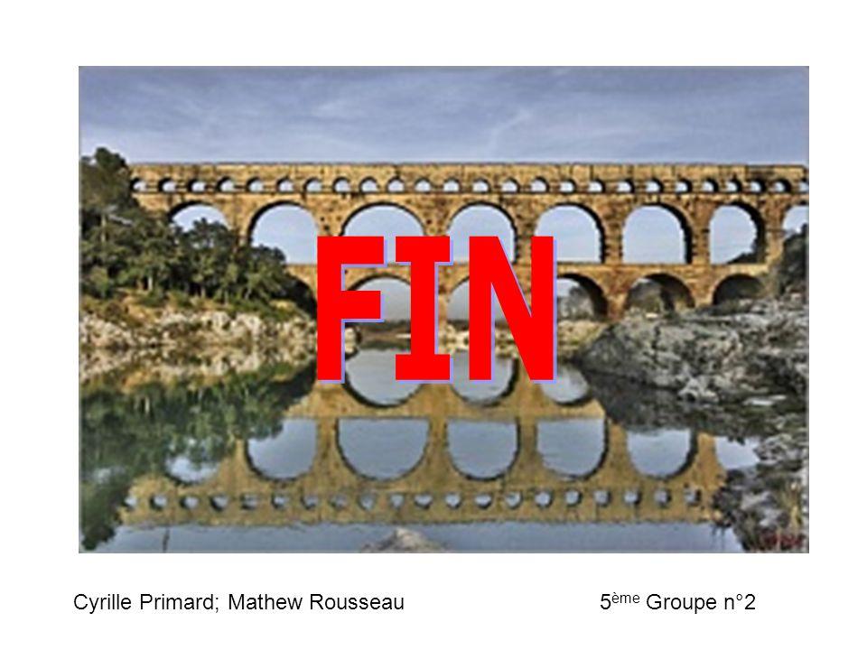 FIN Cyrille Primard; Mathew Rousseau 5ème Groupe n°2