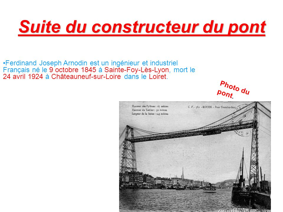 Suite du constructeur du pont