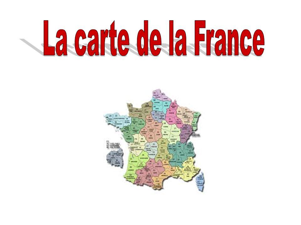 La carte de la France