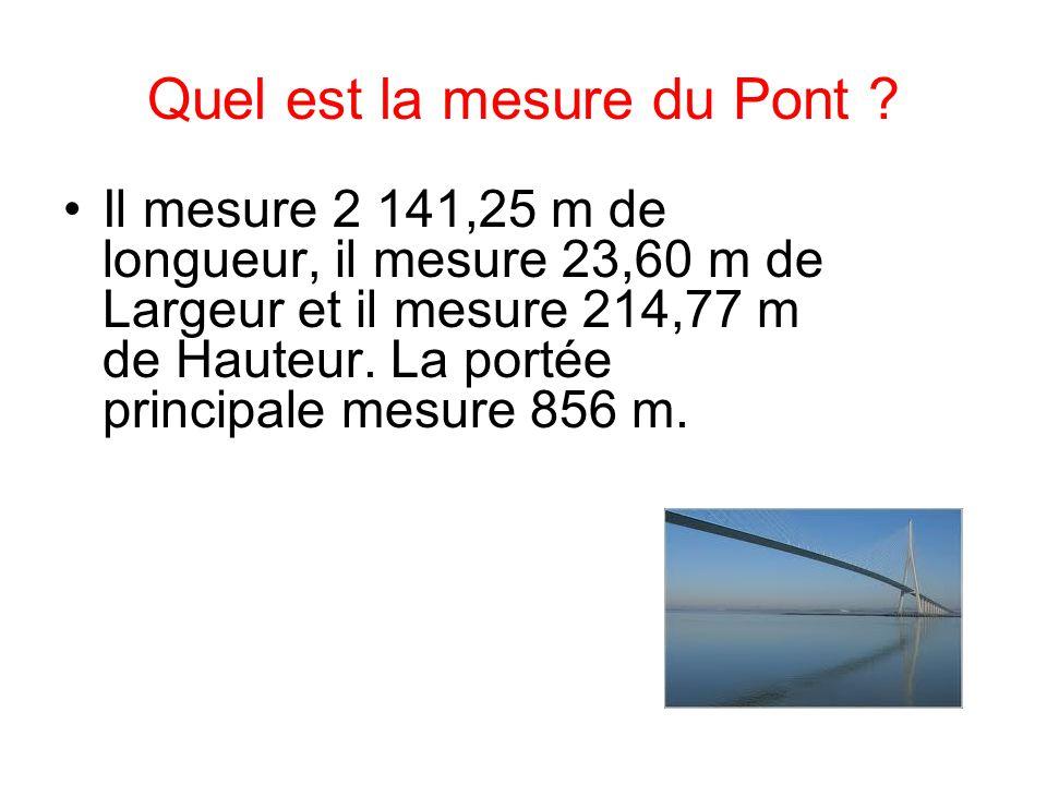 Quel est la mesure du Pont