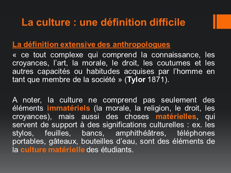 La culture : une définition difficile