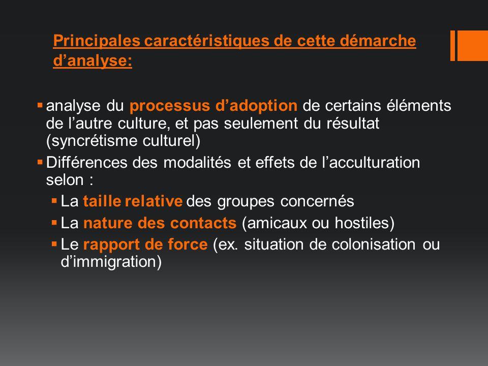 Principales caractéristiques de cette démarche d'analyse: