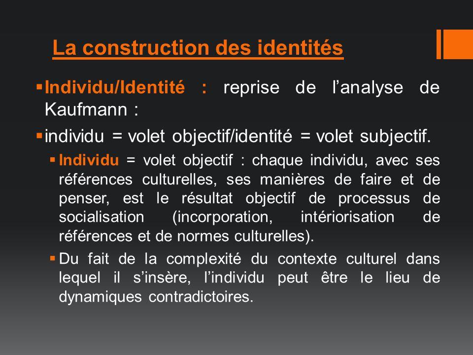 La construction des identités