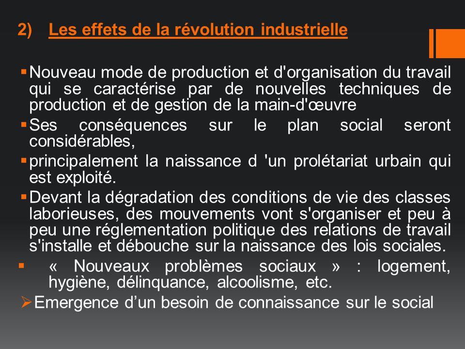 Les effets de la révolution industrielle
