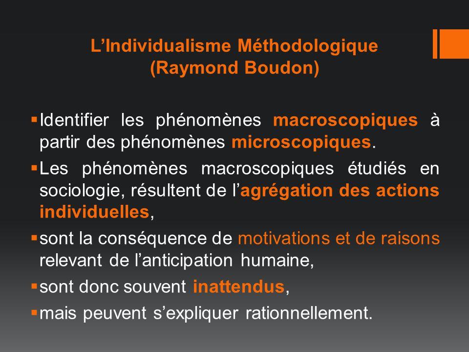 L'Individualisme Méthodologique (Raymond Boudon)