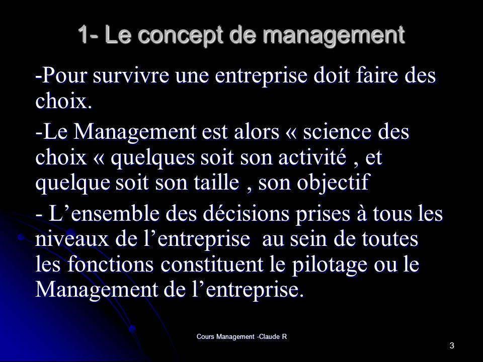 1- Le concept de management