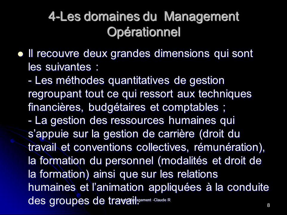 4-Les domaines du Management Opérationnel