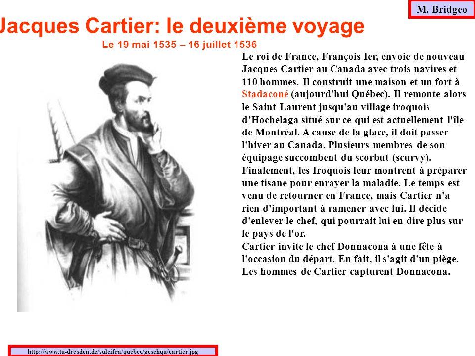 Jacques Cartier: le deuxième voyage