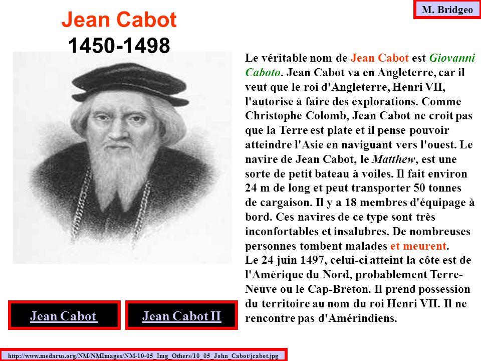 Jean Cabot 1450-1498 Jean Cabot Jean Cabot II