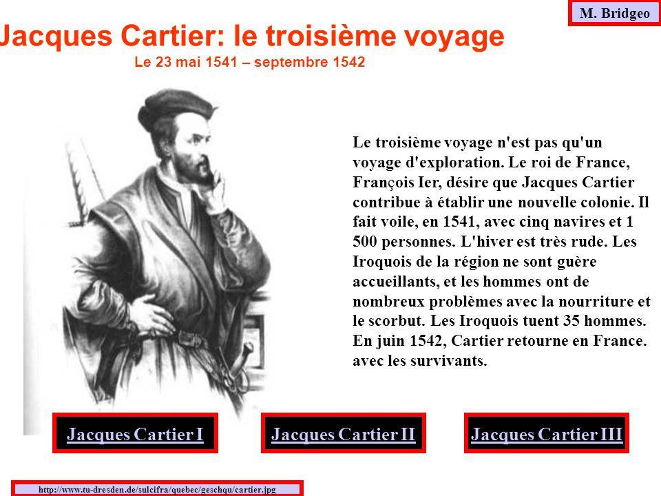 Jacques Cartier: le troisième voyage