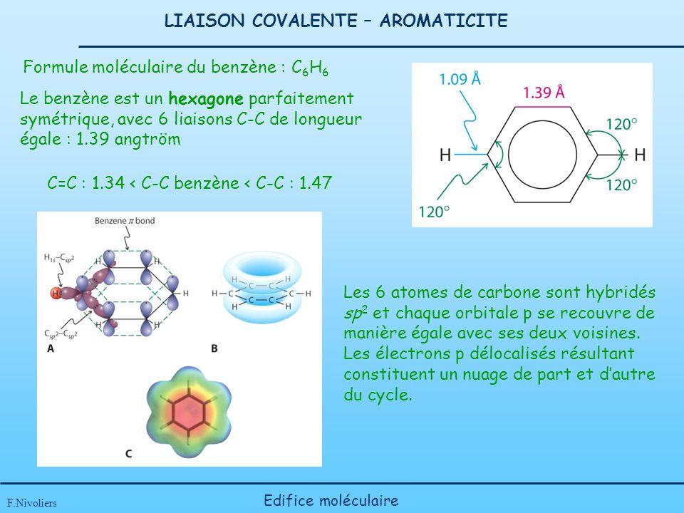 LIAISON COVALENTE – AROMATICITE