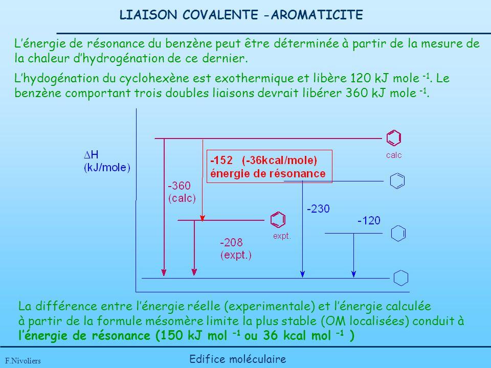 LIAISON COVALENTE -AROMATICITE