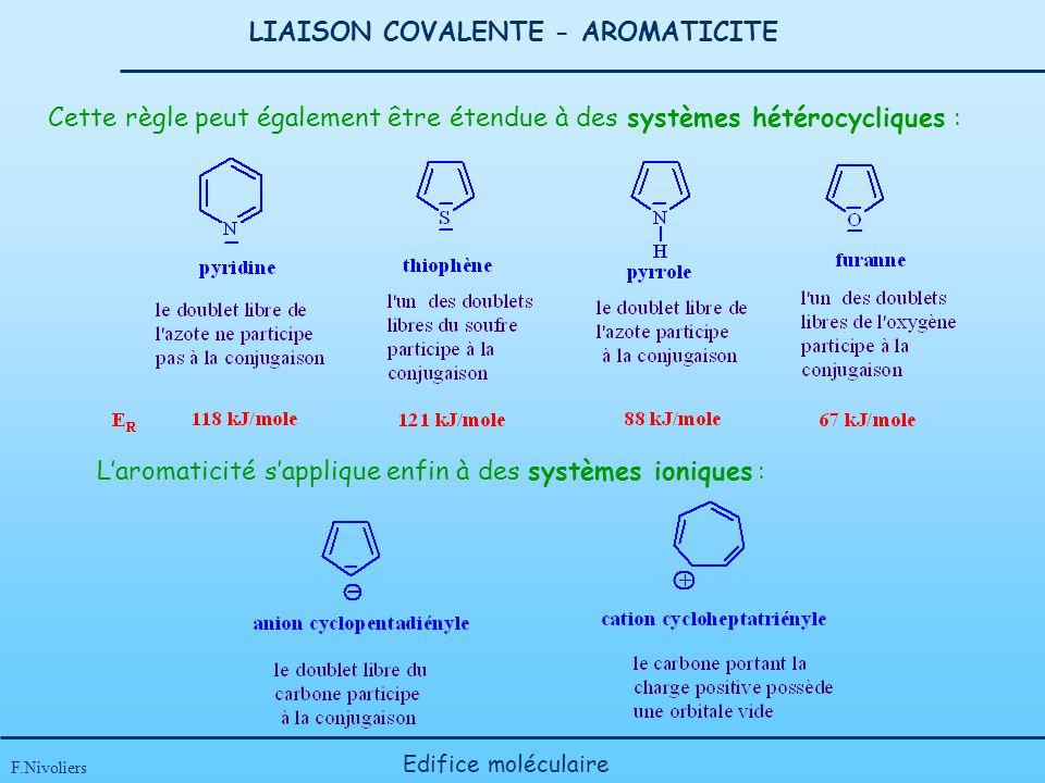 LIAISON COVALENTE - AROMATICITE