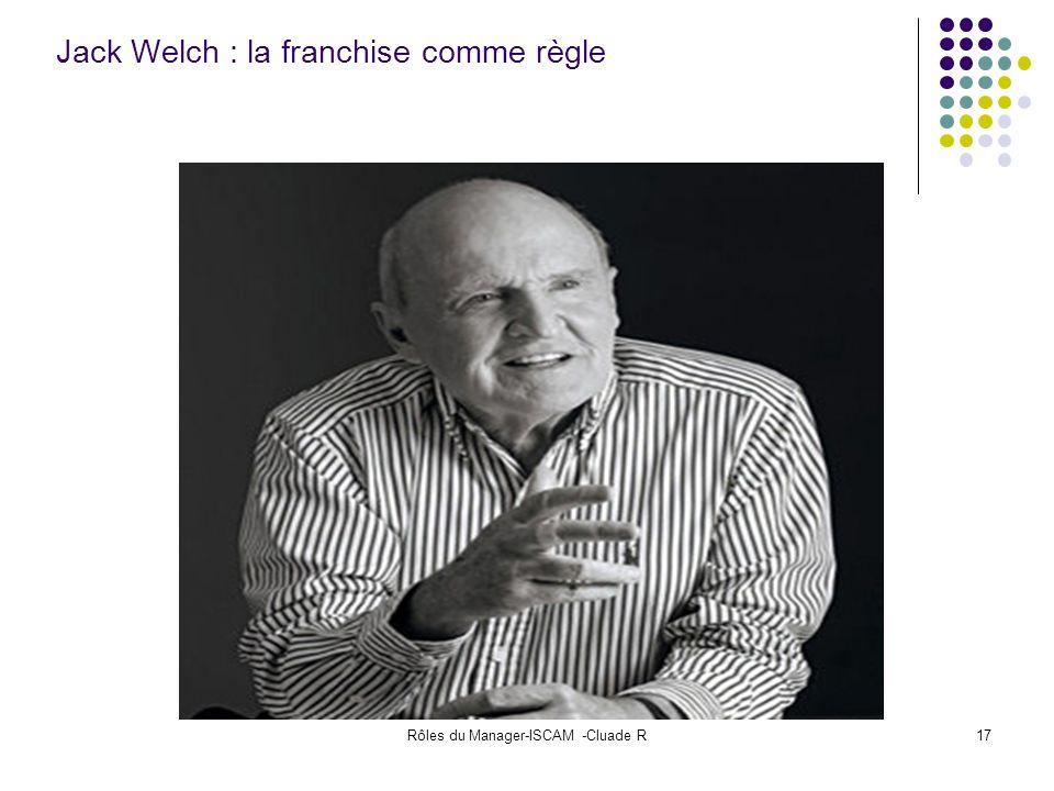 Jack Welch : la franchise comme règle
