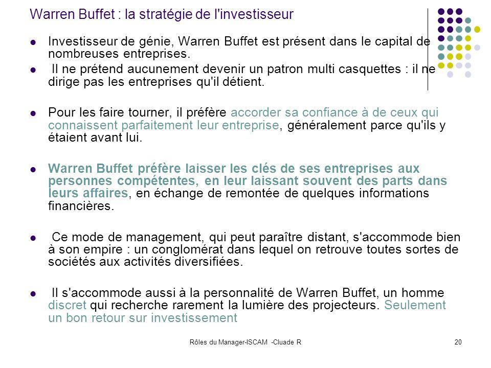 Warren Buffet : la stratégie de l investisseur