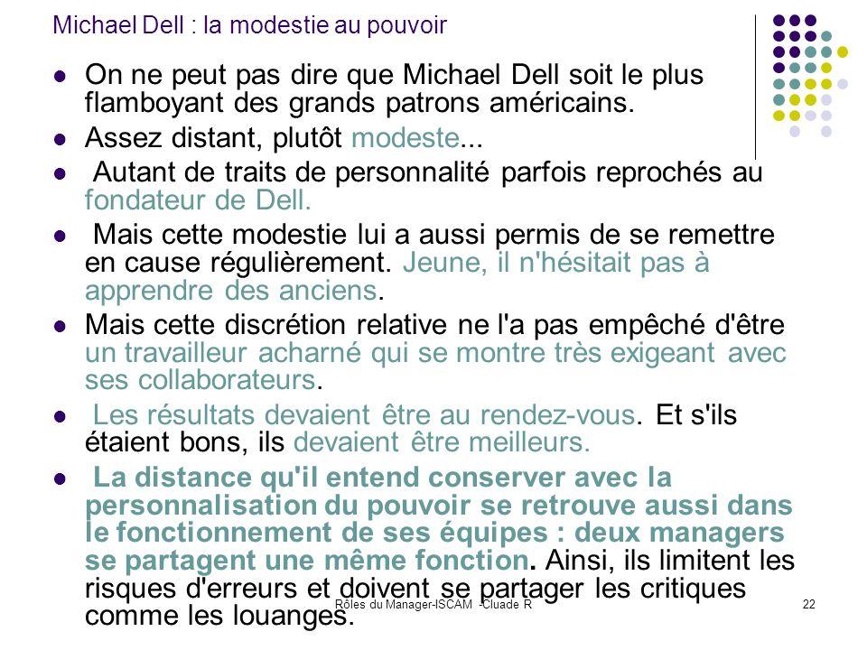 Michael Dell : la modestie au pouvoir