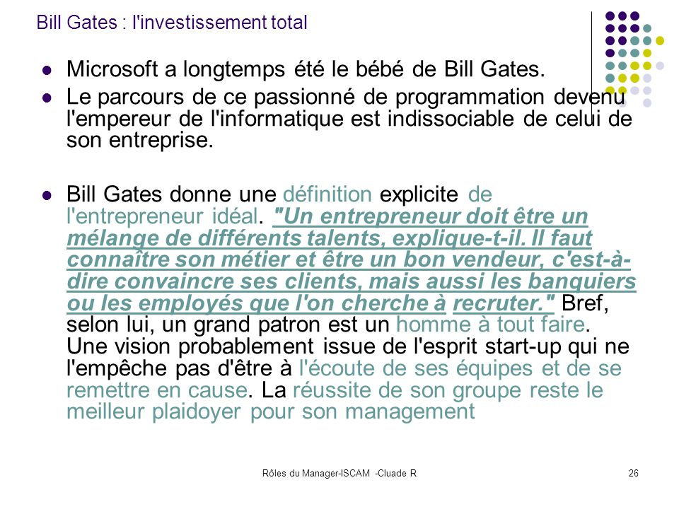 Bill Gates : l investissement total