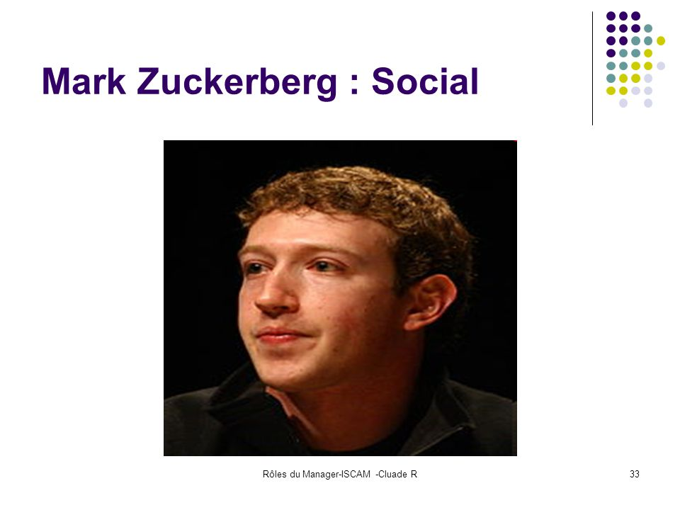 Mark Zuckerberg : Social