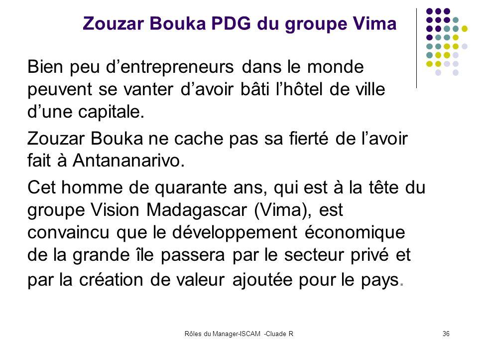 Zouzar Bouka PDG du groupe Vima