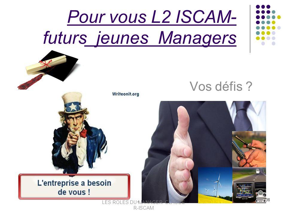 Pour vous L2 ISCAM- futurs jeunes Managers