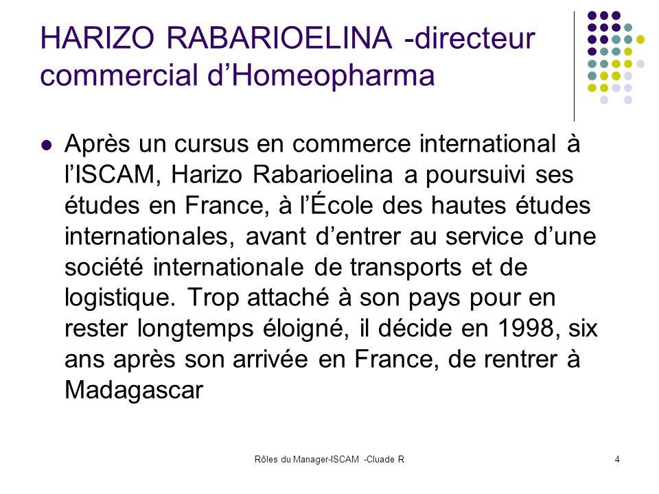 HARIZO RABARIOELINA -directeur commercial d'Homeopharma