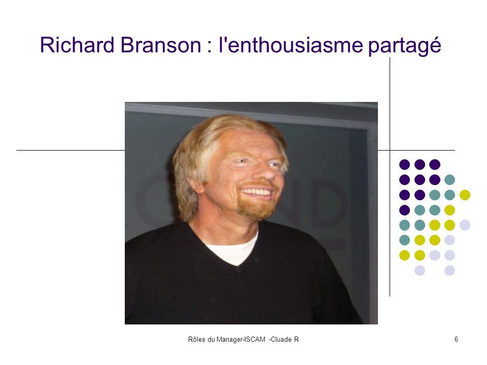 Richard Branson : l enthousiasme partagé