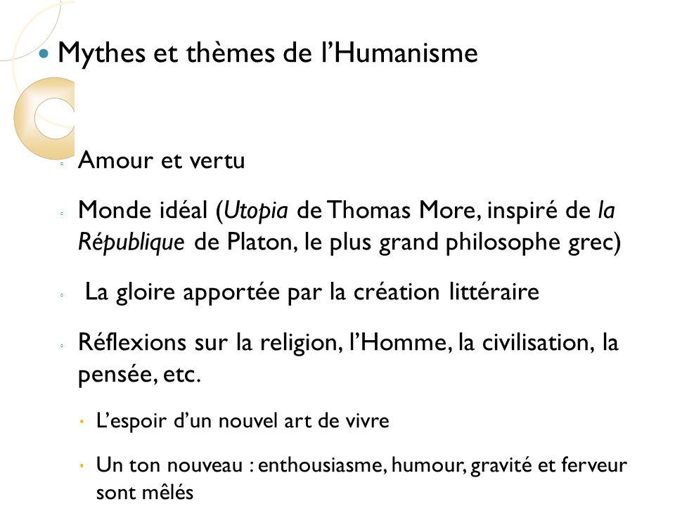 Mythes et thèmes de l'Humanisme
