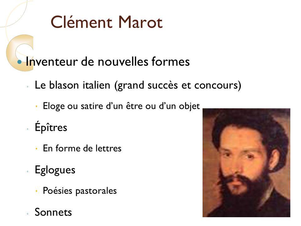 Clément Marot Inventeur de nouvelles formes