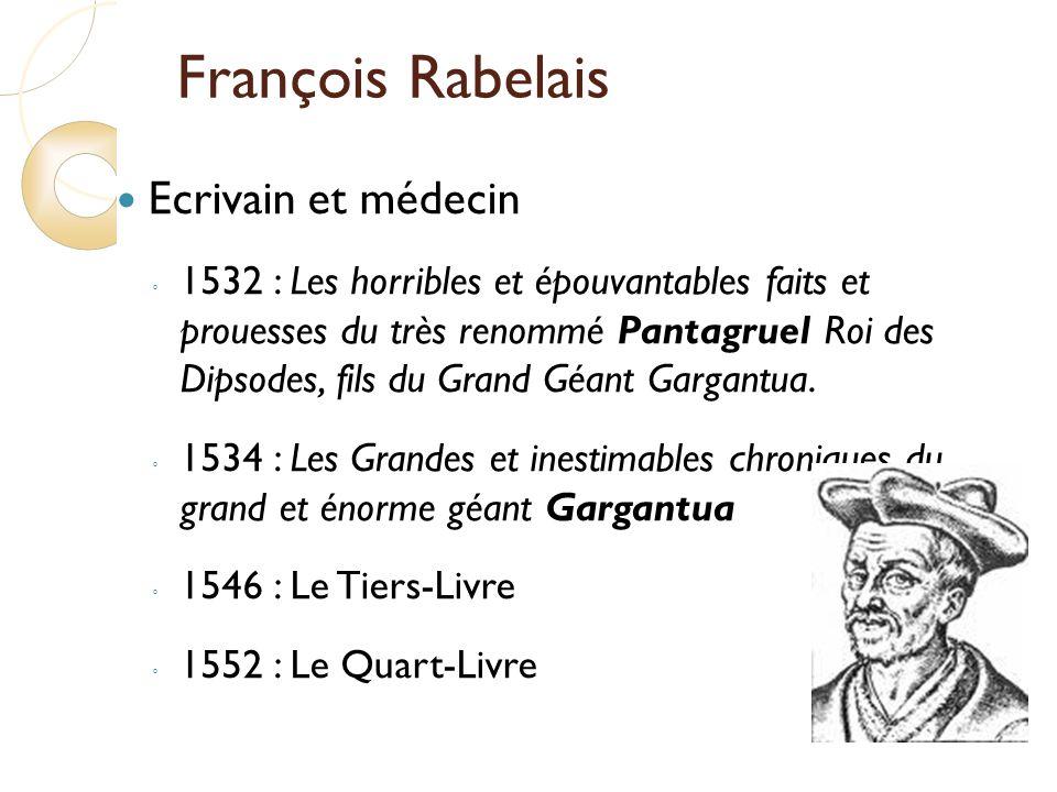 François Rabelais Ecrivain et médecin