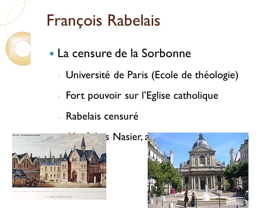 François Rabelais La censure de la Sorbonne