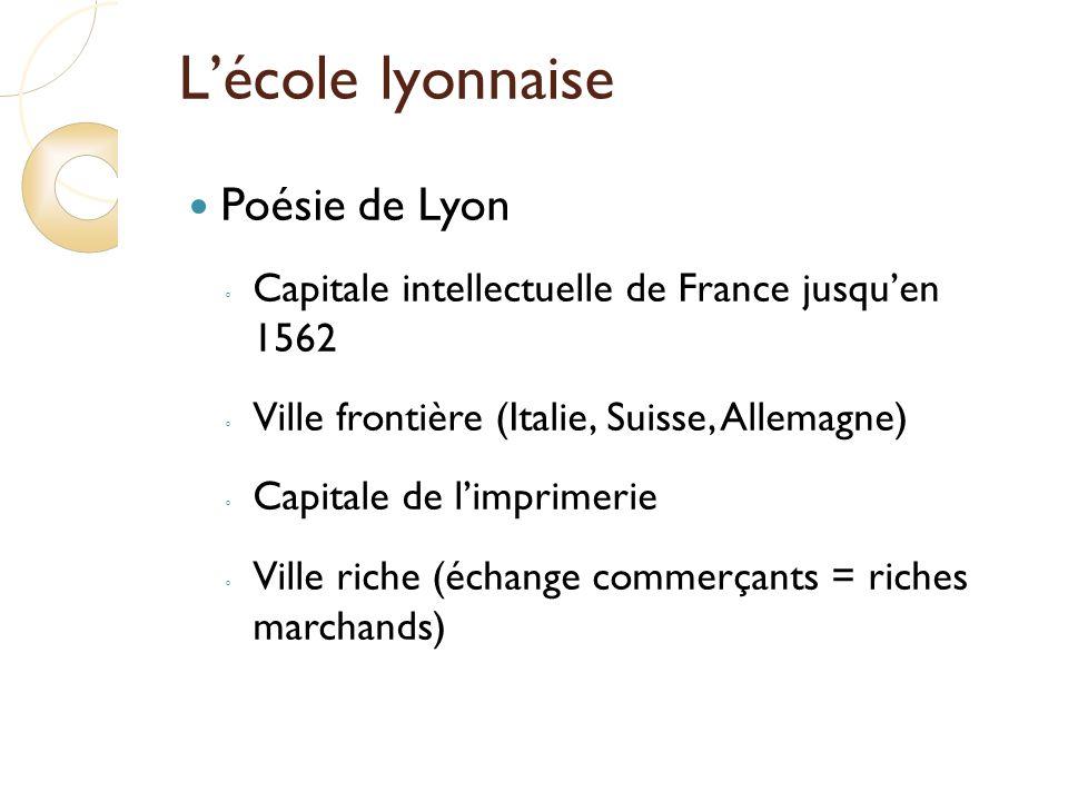 L'école lyonnaise Poésie de Lyon