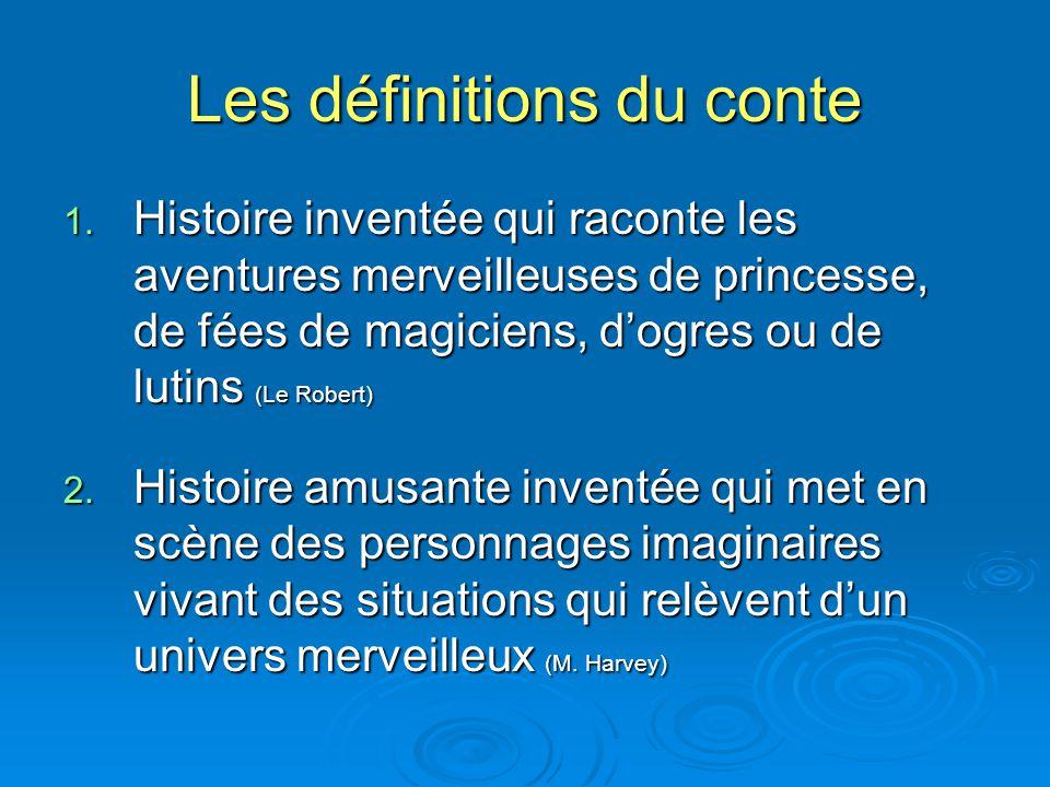Les définitions du conte
