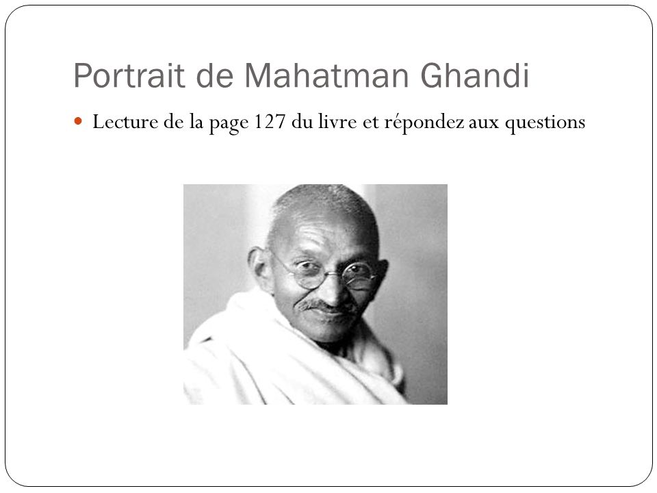 Portrait de Mahatman Ghandi