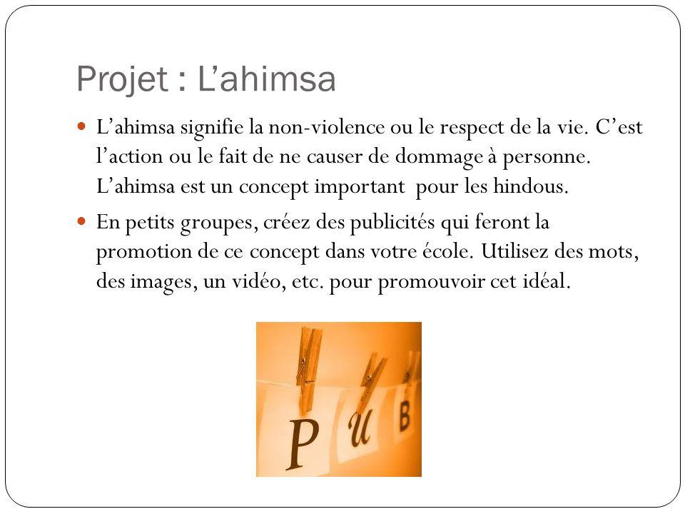 Projet : L'ahimsa