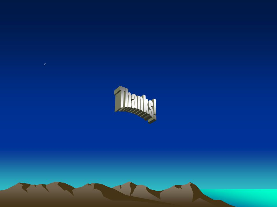 r Thanks!