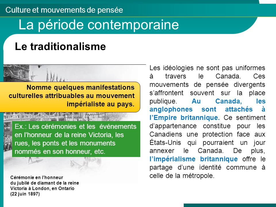 La période contemporaine