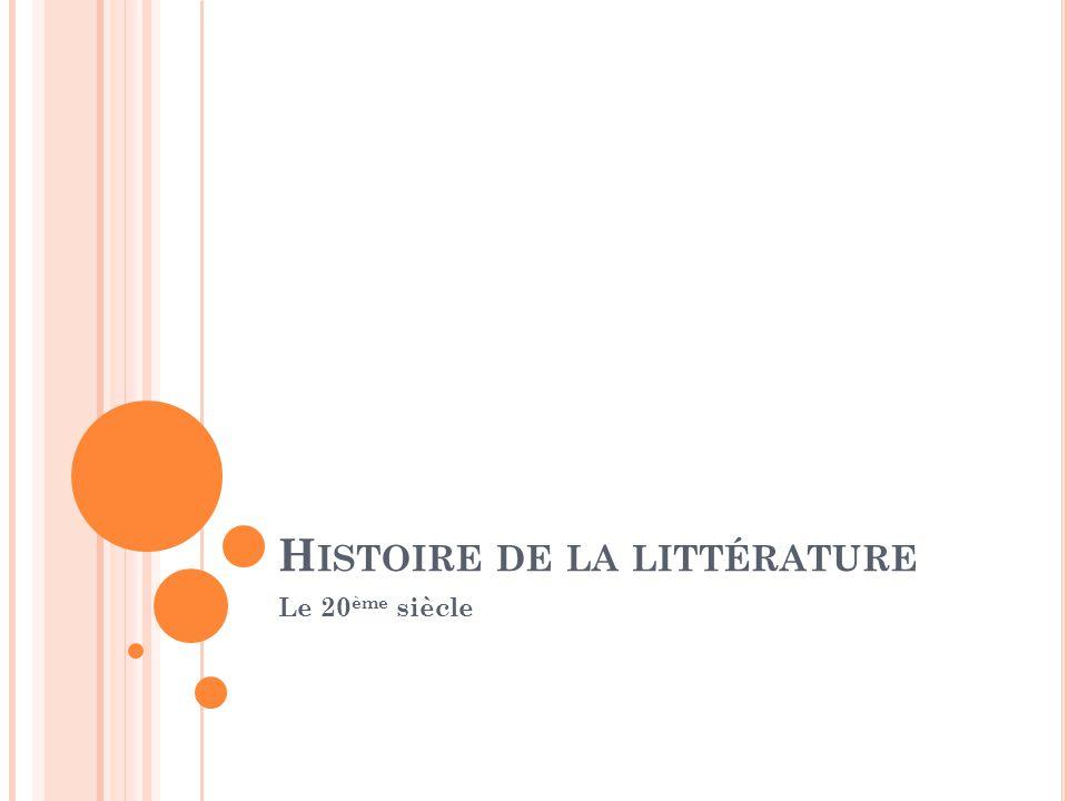 Histoire de la littérature
