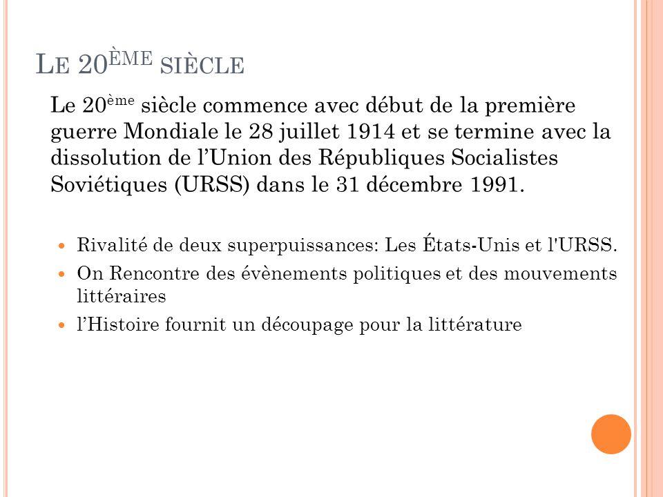 Littérature du XIXe et XXe siècle - ppt video online ...