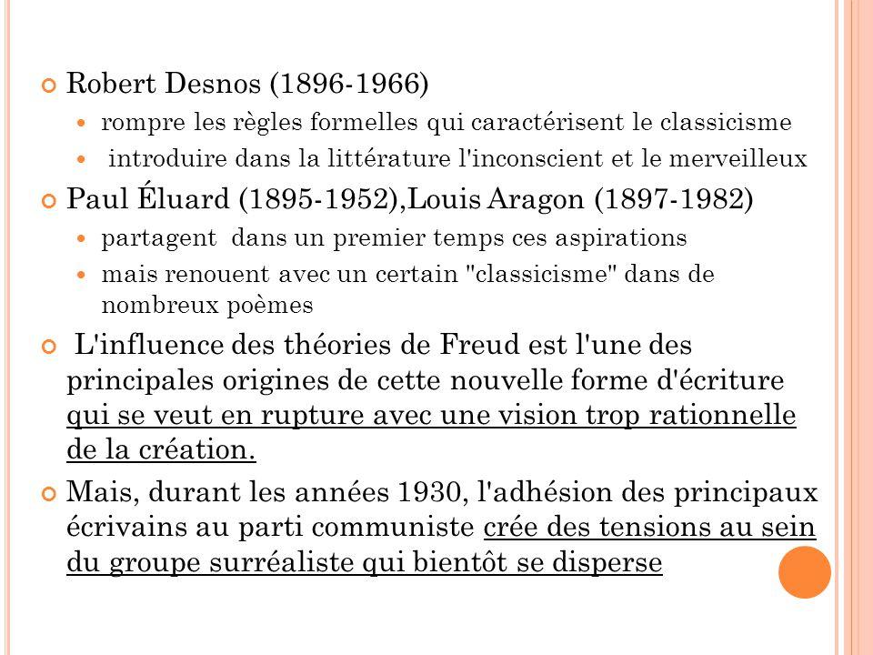 Paul Éluard (1895-1952),Louis Aragon (1897-1982)