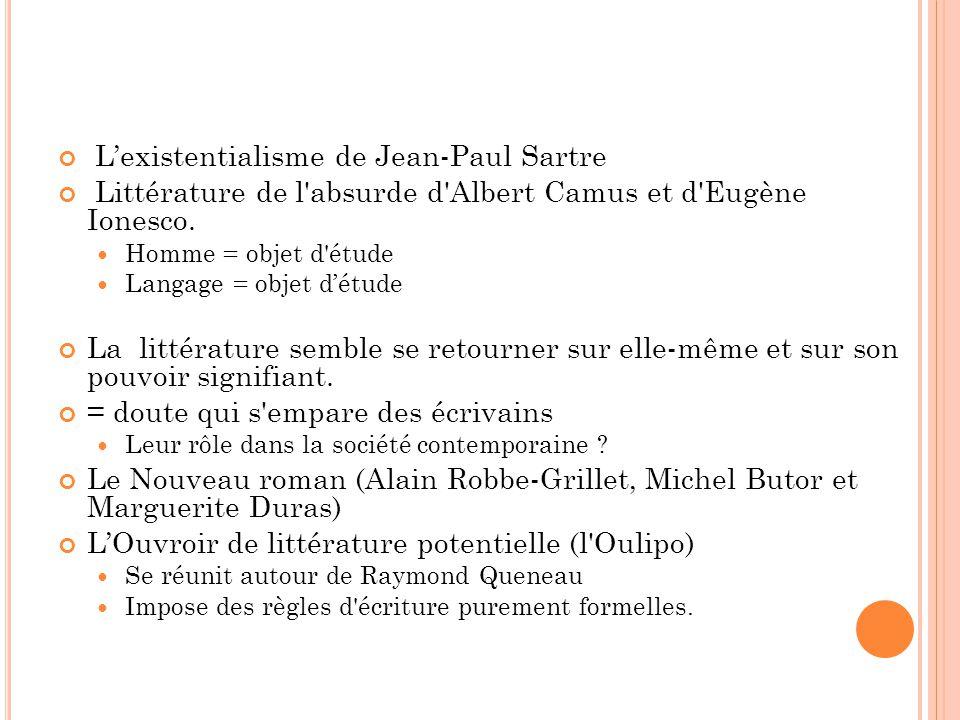 L'existentialisme de Jean-Paul Sartre