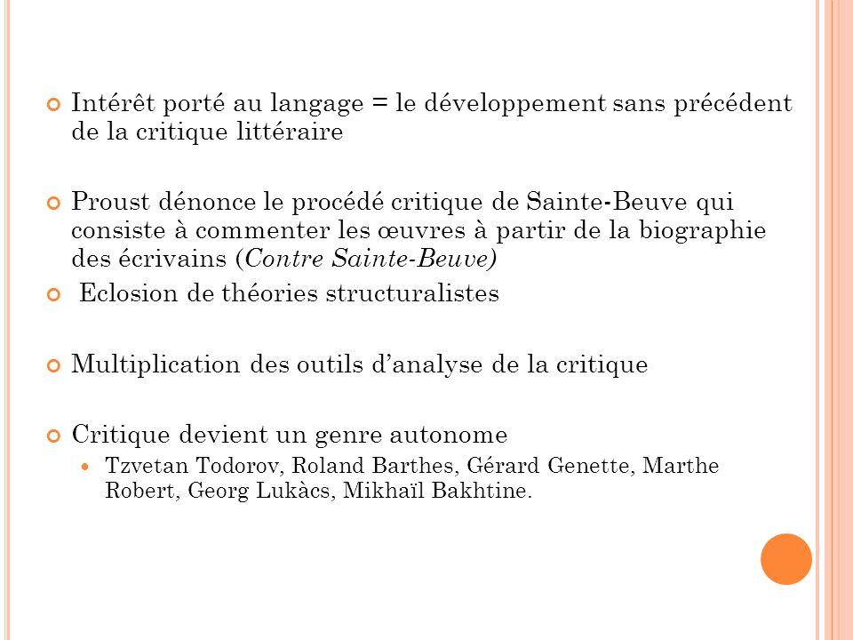 Eclosion de théories structuralistes