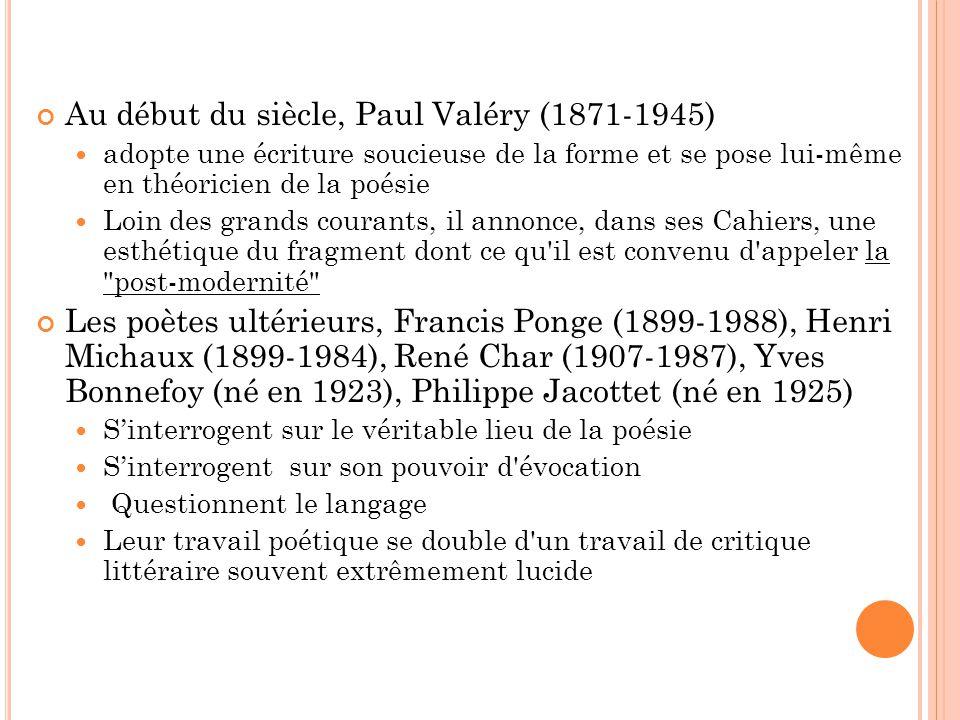 Au début du siècle, Paul Valéry (1871-1945)