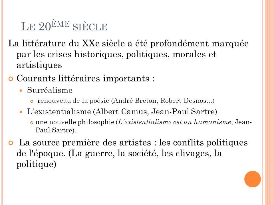 La littérature française du XXe siècle - | Armand Colin