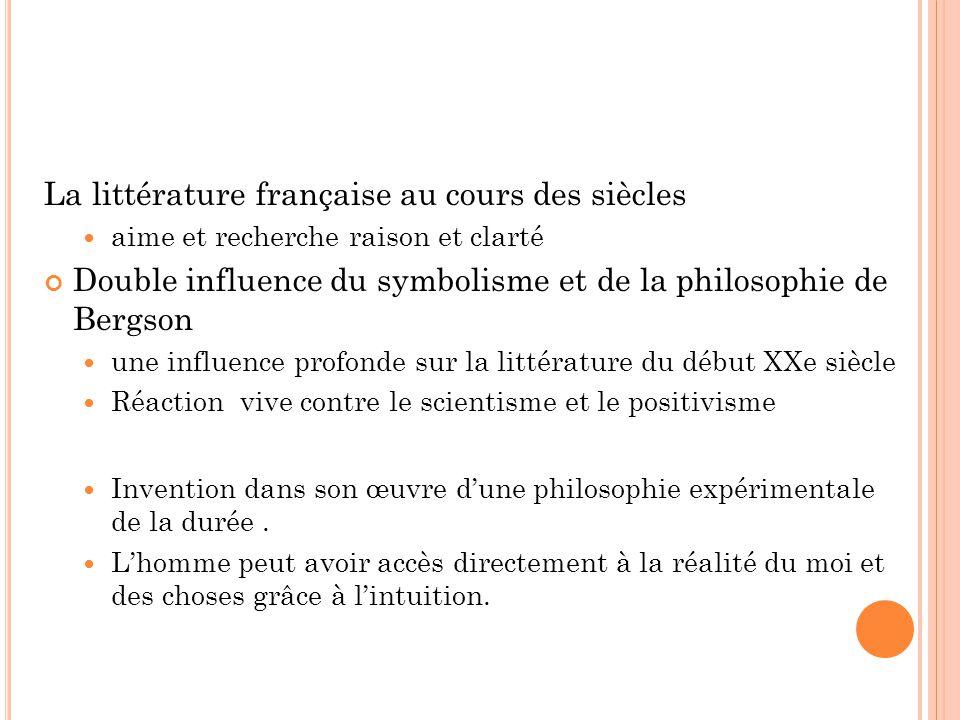 La littérature française au cours des siècles